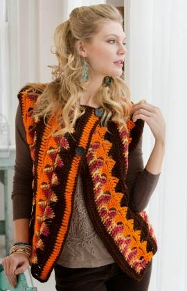 crochet jacket from red heart