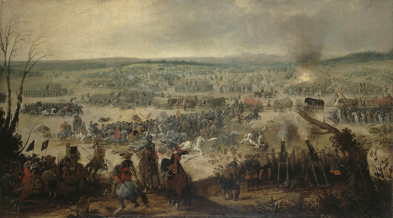 Battle of Vimpfen on 6 May 1622 by Simon de Vos - Battle Paintings from Hermitage Museum