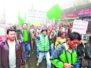 GNLF rally in Darjeeling