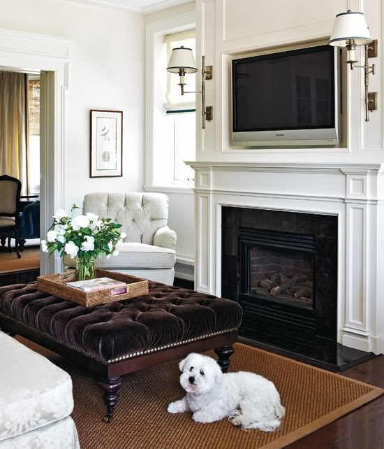 Hanging Your TV over the Fireplace Yea or Nay  Driven by Decor