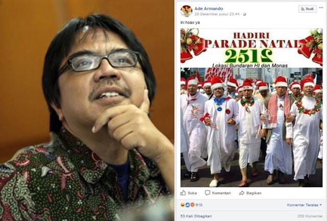 FPI Jakarta: Kalau Ade Armando Tidak Ditangkap, Polisi Jelas Tebang Pilih