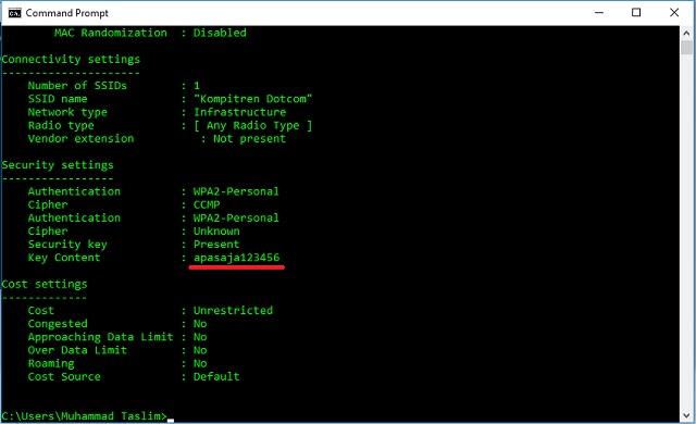 Cara Mudah Mengetahui Password WiFi Menggunakan CMD 5