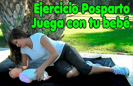 ejercicios postparto con el bebe