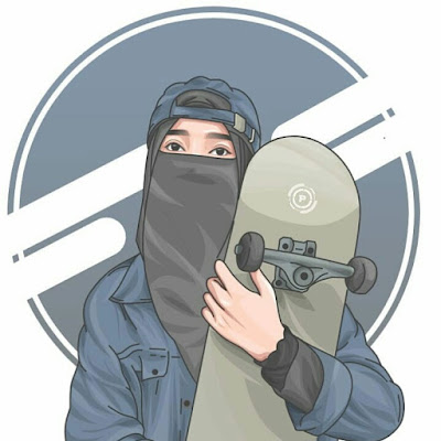 Gambar vector muslimah bercadar
