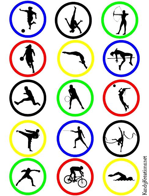 Olympic Sport Ring Cupake Topper Printable