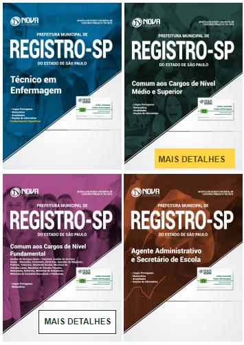 Apostilas Prefeitura de Registro - SP
