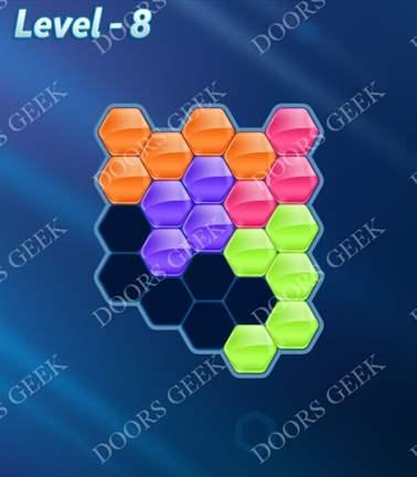 Block! Hexa Puzzle [Rainbow A] Level 8 Solution, Cheats, Walkthrough for android, iphone, ipad, ipod