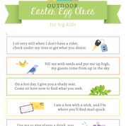 OUTDOOR Easter Egg Hunt Clue Printables