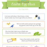 OUTDOOR Easter Egg Hunt Clue Printables