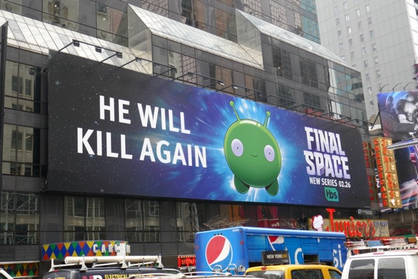 Final Space series launch billboard NYC