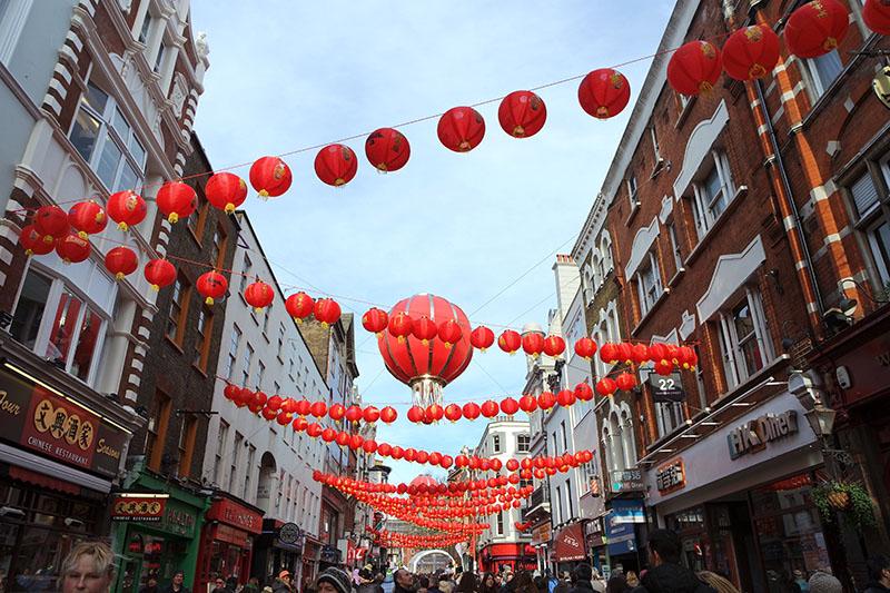 Red lantern, Chinese New Year, London, Trafalgar Square, Chinatown,celebrations, restaurant, parade, dragon, colourful