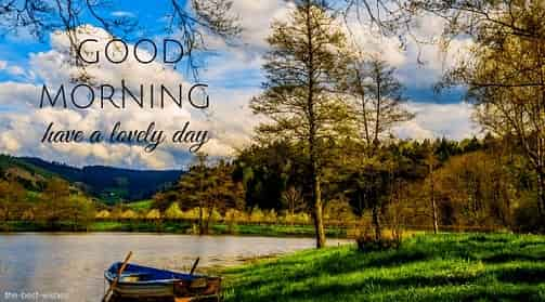 good morning with boat rowing boat lake water
