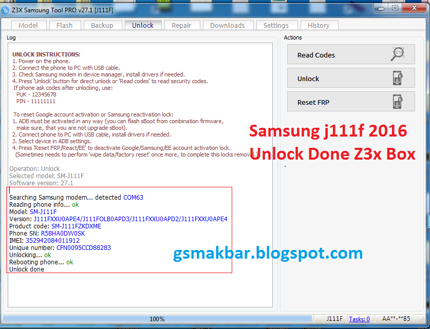 AKBAR KHAN MOBILE ZONE: Samsung Sm-j111F Without Root Unlock