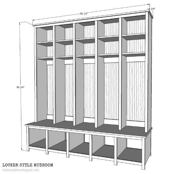diy locker style mudroom