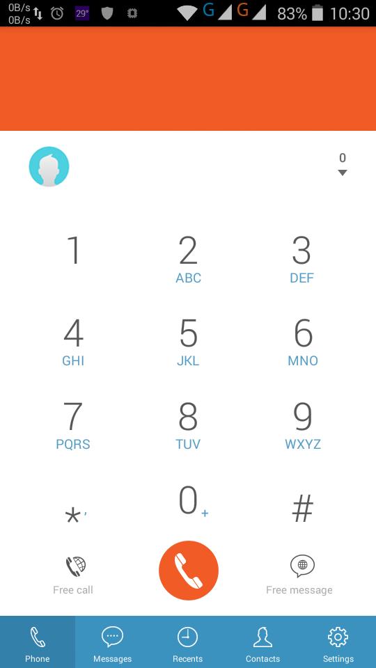 Giao diện điện thoại của BTalk