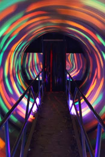 A disorienting tunnel of terror at Fear Forest in Harrisonburg, VA