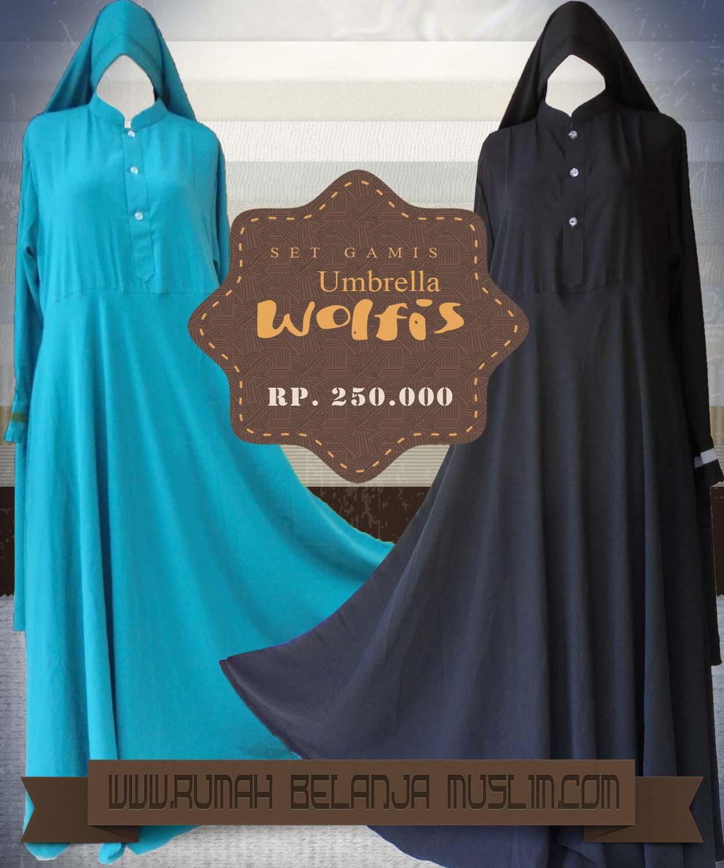 Rumah Belanja Muslim Gamis Umbrella Wolfis