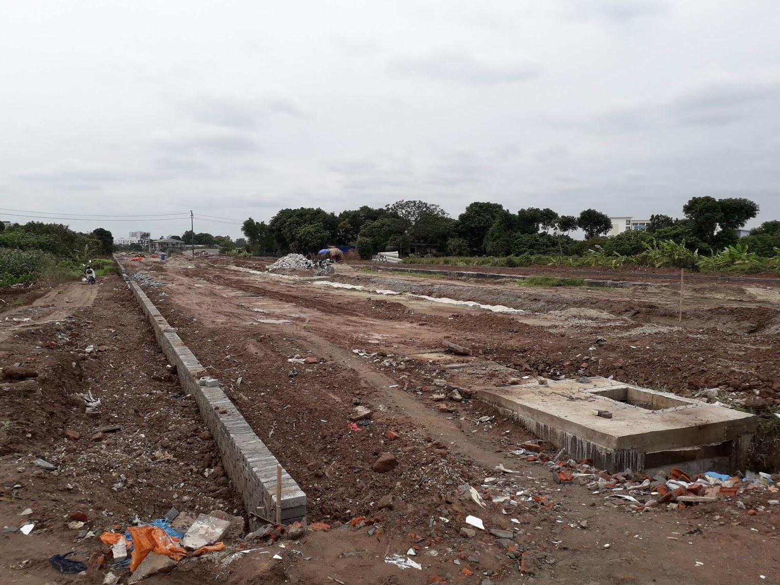Hiện trạng đường 40m tháng 12 tại Thanh Am.