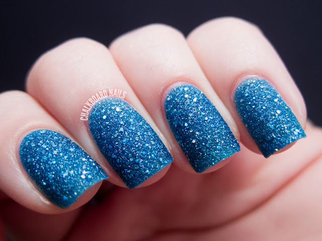 Chalkboard Nails: OPI Get Your Number (Liquid Sand)