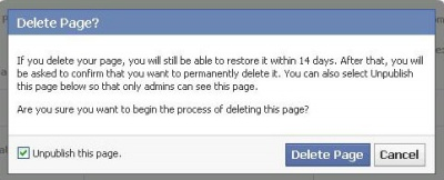 Menghapus Fans Page Facebook