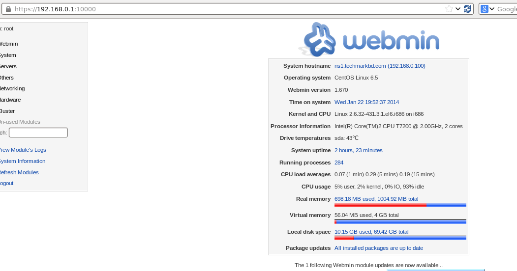 How to install Webmin in CentOS 6 5 | SM Wahiduzzaman