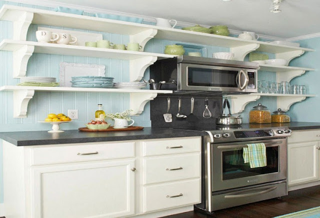Model rak piring gantung dapur minimalis rumah idaman