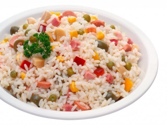 insalata di riso piatto anni 80