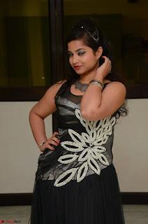 Shrisha Dasari in Sleeveless Short Black Dress At Follow Follow U Audio Launch 021.JPG