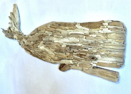Large Driftwood Whale