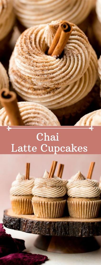 Chai Latte Cupcakes #desserts #cakerecipe