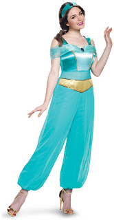 Women's Disney Princess Jasmine Deluxe Adult Costume for Halloween