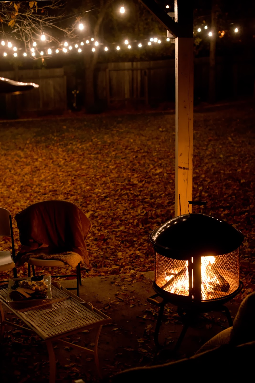 Backyard Fire Pit And Game Night
