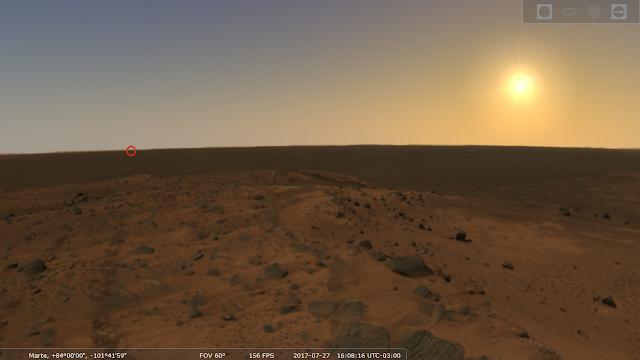 Cielo de Marte Stellarium
