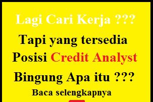 Apa itu Credit Analyst ? Apa Tugas dan Tanggung Jawab Seorang Credit Analyst ? Baca selengkapnya