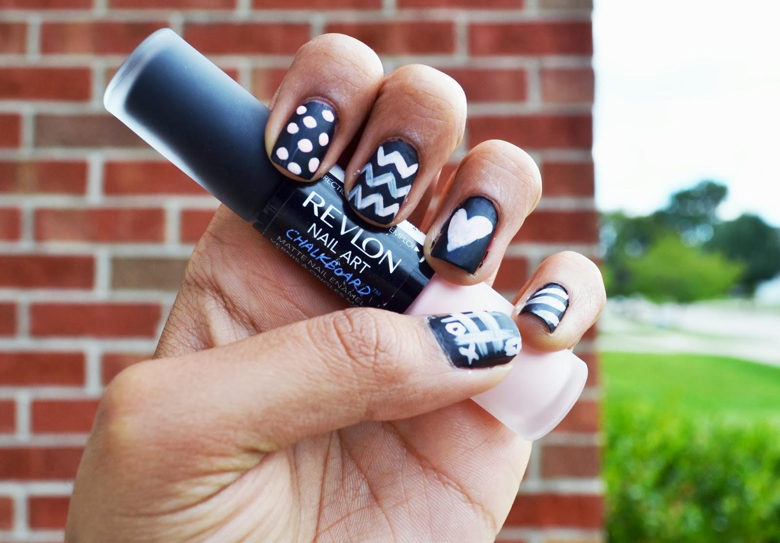 OOT(ahsin)D: Manicure Monday: Revlon Chalkboard Nails + Review