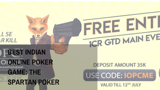 World's Showcase: Best Indian Online Poker Game: The Spartan Poker