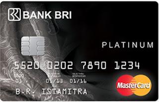 Gambar Design Kartu kredit BRI Platinum