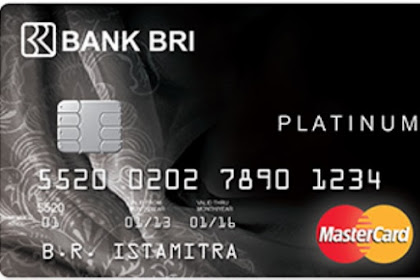 Kartu kredit BRI Platinum - Limit, cara buat, fasilitas dan Biaya