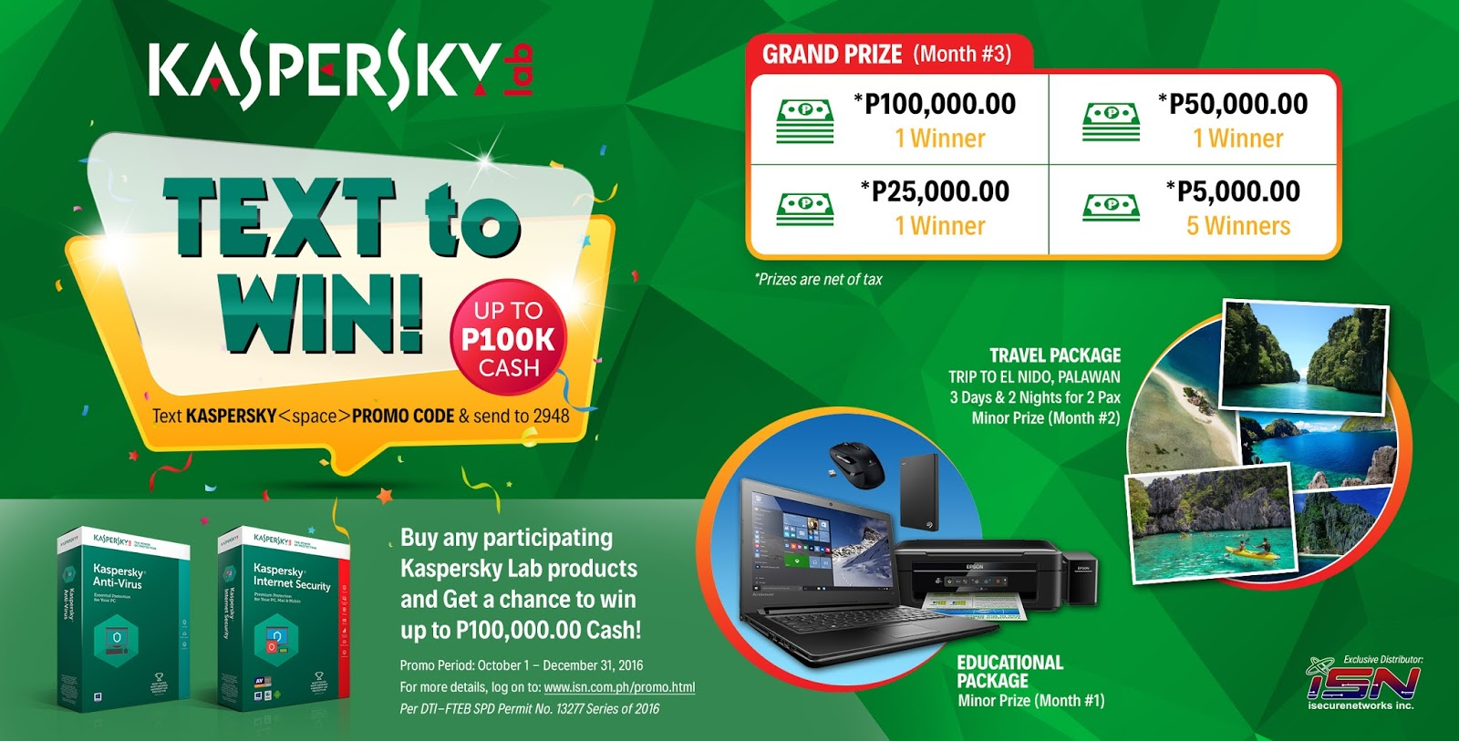 Kaspersky Text to Win Promo