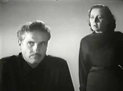 Arturo de Córdova en una secuencia de El Hombre sin rostro 1950