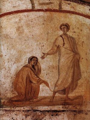 Jesus cura mulher de hemorragia