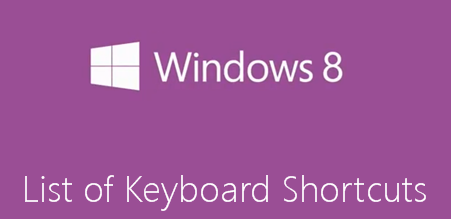 Full Windows 8 Keyboard Shortcut Keys