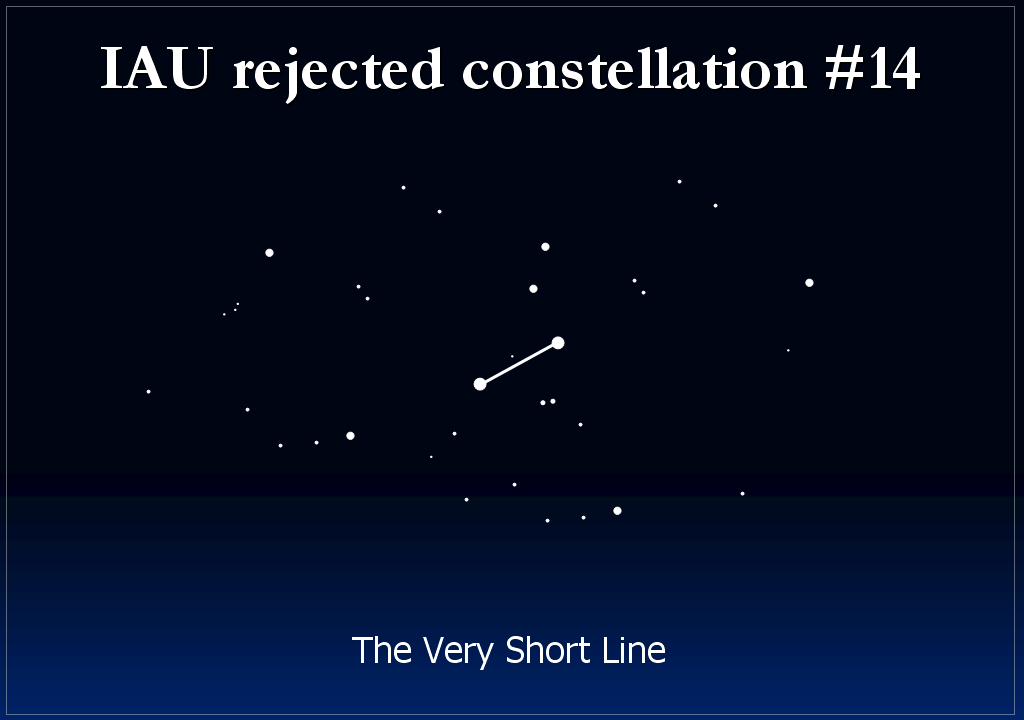 rejected constellation - the very short line