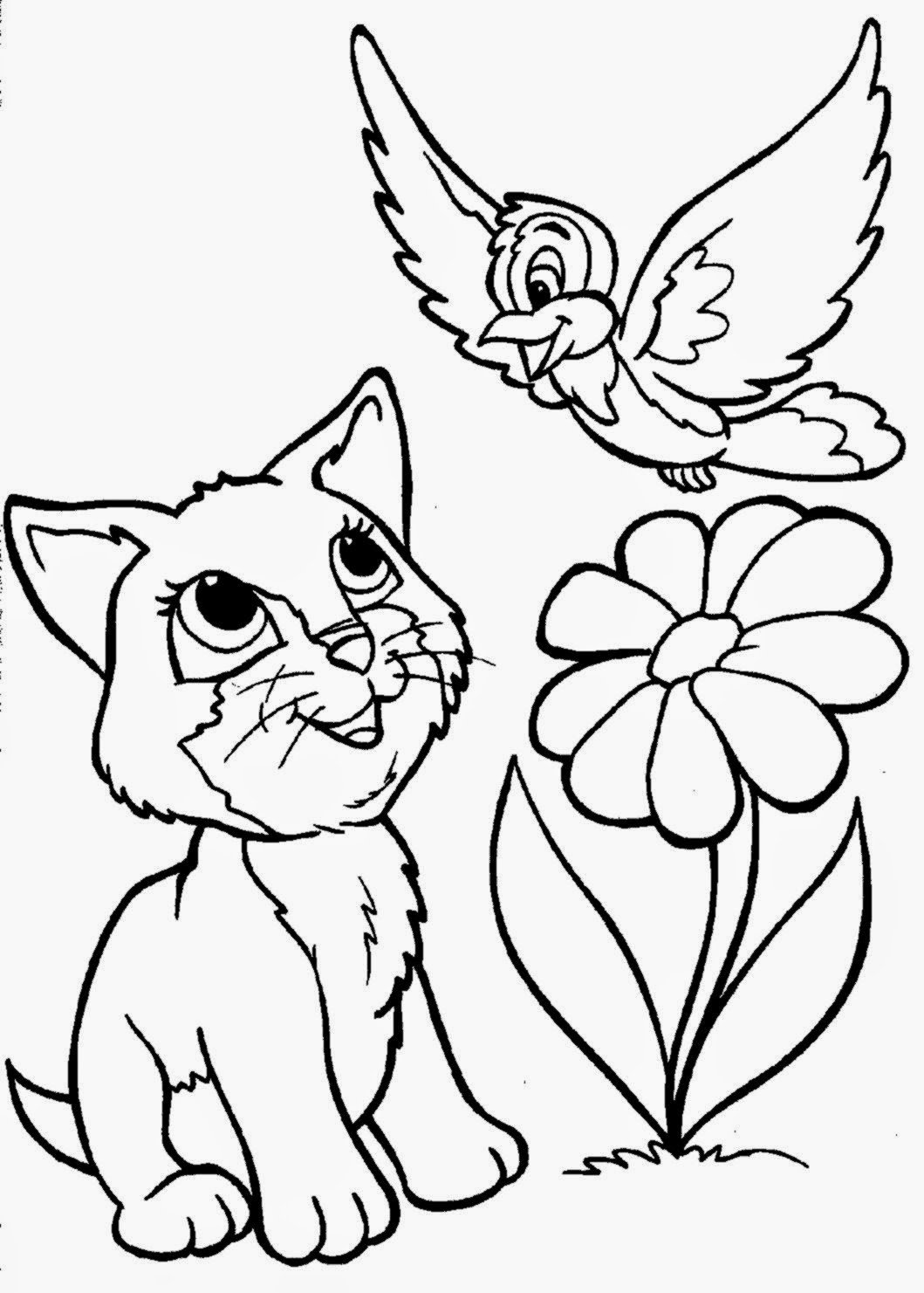 printable kitty cat coloring pages | February 2015 | Free Coloring Sheet