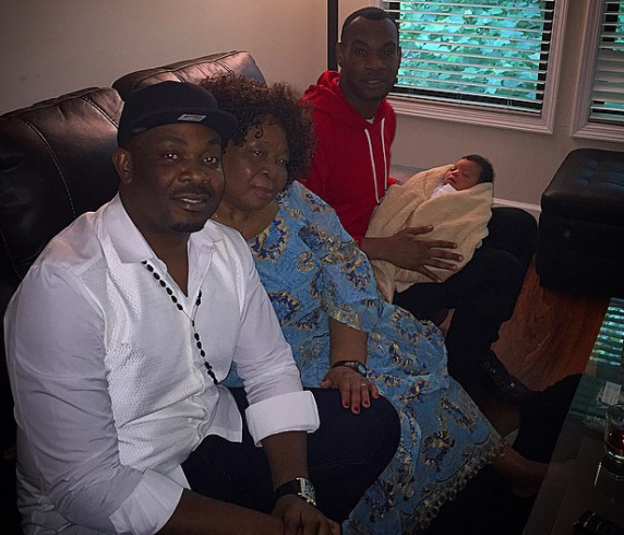 D'Prince, Donjazzy and Mother with Son