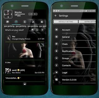 BBM MOD Transparan Black v3.2.0.6 Apk Terbaru