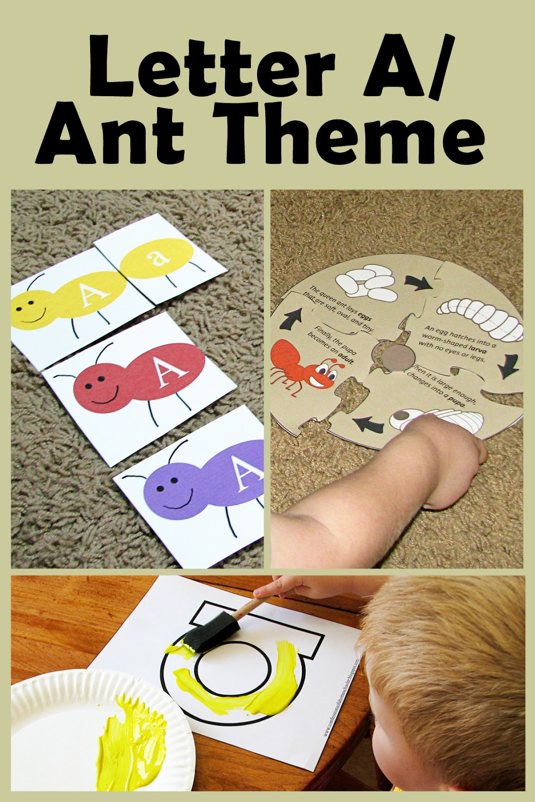 Mommy S Little Helper Letter A As In Ant Preschool Theme