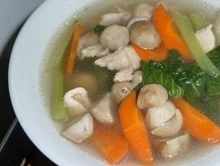 resep sayur sop jamur bola ikan