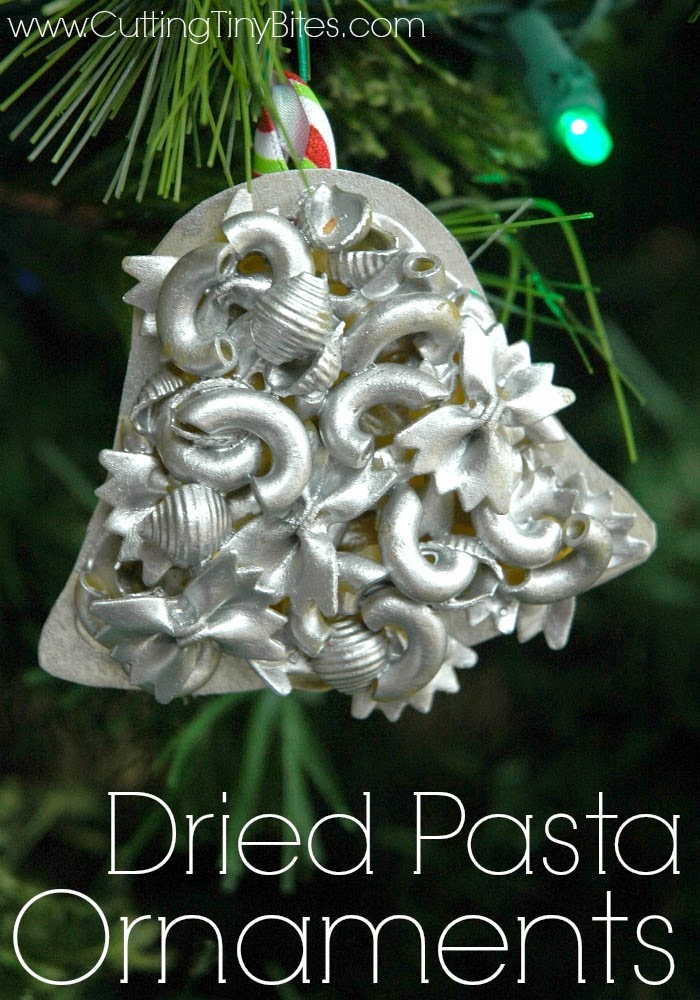 Dried Pasta Ornaments- Kid's craft for Christmas. EASY! Great for toddlers, preschoolers, or older children.