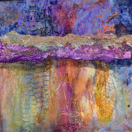 colorful Venetian plaster, gold leaf painting